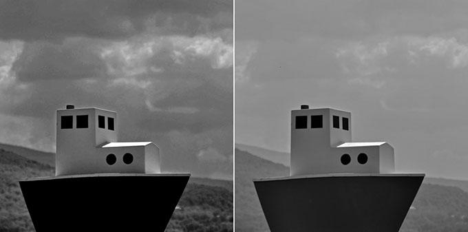 Incidence des filtres sur les photos noir et blanc