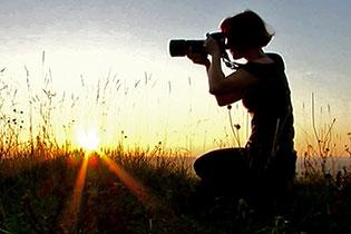 Photographe au soleil