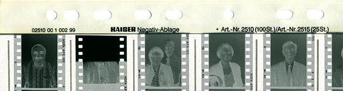 Feuille cristal archivage film noir et blanc